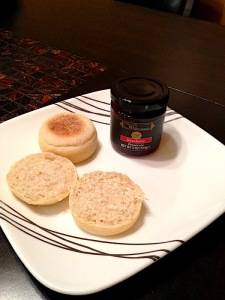 English muffins! Also preserves.